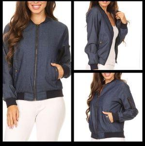 Jackets & Blazers - Cotton denim color Bomber Jacket